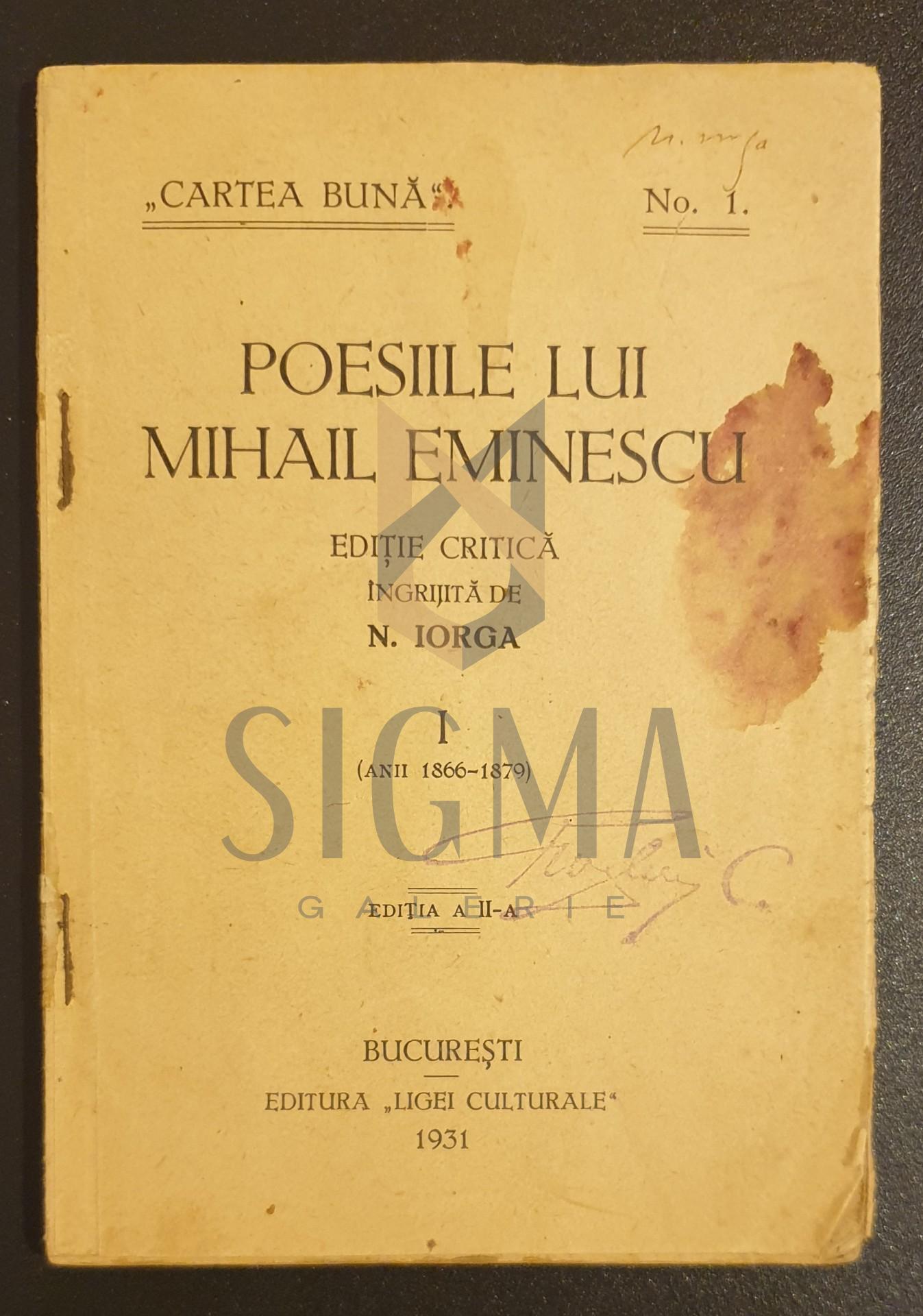 Poesiile lui Mihail Eminescu, vol 1