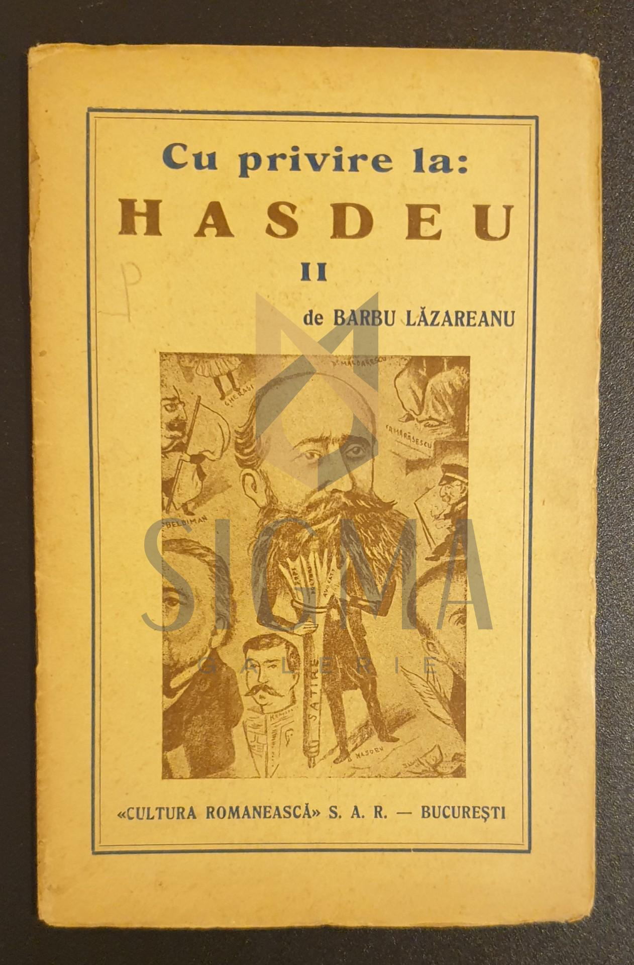 Cu privire la Hasdeu