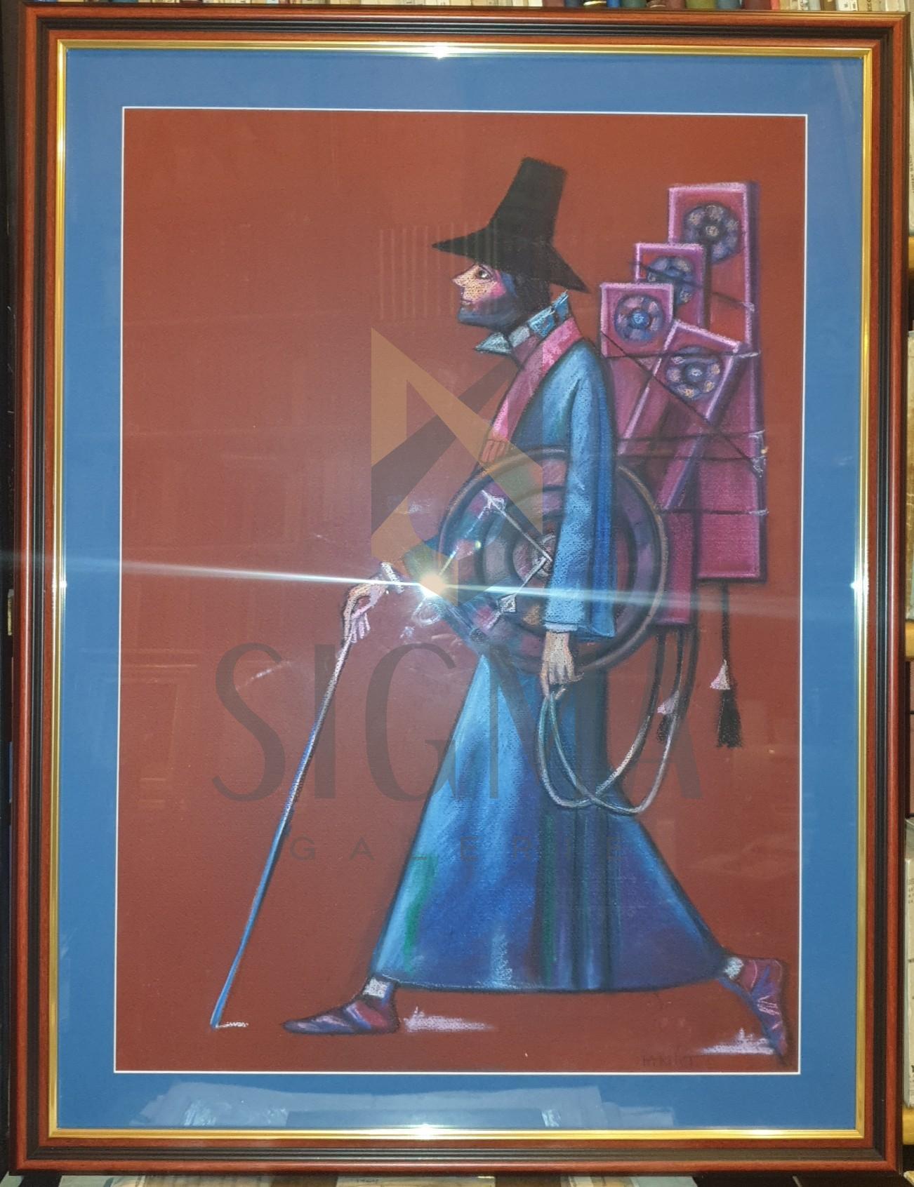 """TABLOU, ION IANCUT """" VANZATORUL DE TIMP """", Pastel pe Hartie, Dimensiuni: 70 x 50cm."""