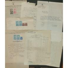 JENI ( EUGENIA ) ACTERIAN, LOT DOCUMENTE ORIGINALE, NOTE RTRIMESTRIALE, DECLARATIE, ACTE DE BOTEZ, CERTIFICAT-CAZIER, CERTIFICAT PROVIZORIU