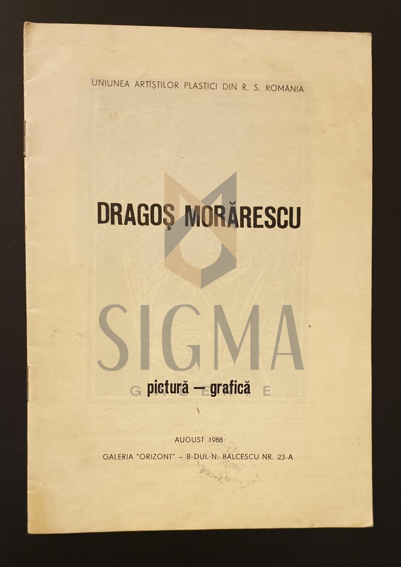 Brosura de expozitie  *  Dragos Morarescu  *  pictura-grafica