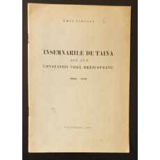 Insemnarile de taina ale lui Constantin Voda Brancoveanu 1693-1707