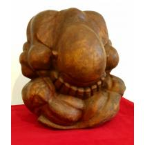 "Sculptura din lemn, ""Ganditorul"", nesemnat, H 25x25x25 cm"