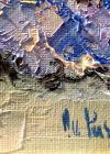 """Tablou, Ovidiu Puscasiu, """"Albastrele"""", ulei pe panza, dimensiuni: 24X30 cm, datat 2019"""