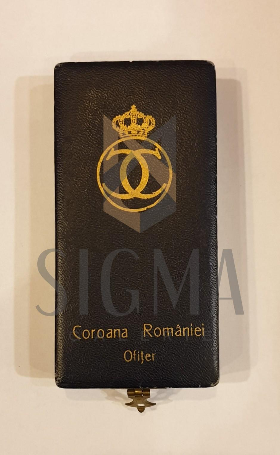 """CUTIE , """" COROANA ROMANIEI - OFITER """" MODEL CAROL AL II-LEA"""