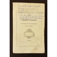 Conspect literar  -  Dictionar de scriitori romani - inclusiv Basarabia