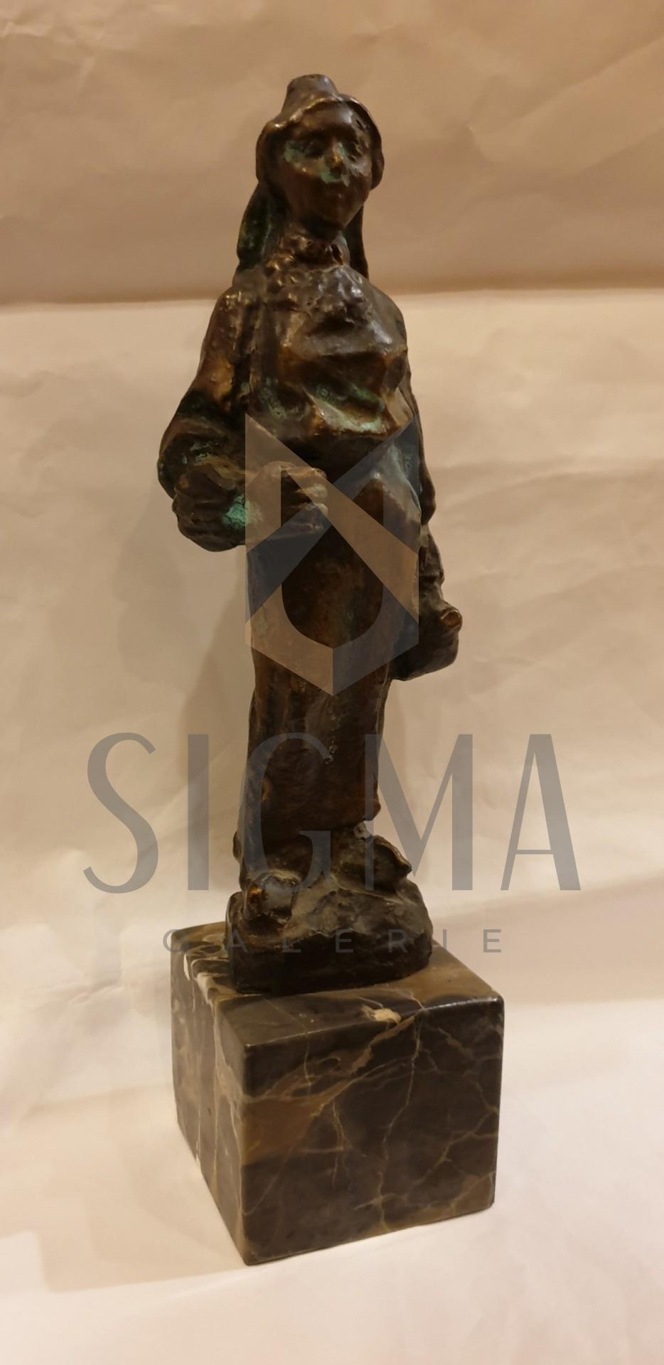 SCULPTURA, ION VLAD, PERSONAJ FEMININ, bronz