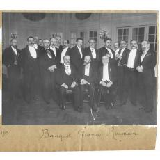 2 FOTOGRAFII, BANCHETUL FRANCO - ROUMAIN - MEDICINA, DOCTORUL ION CANTACUZINO, 1913