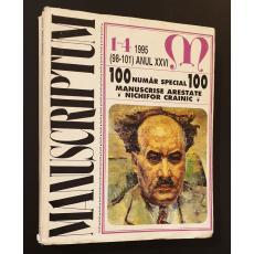 Manuscriptum  *  Revista trimestriala editata de Muzeul Literaturii Romane