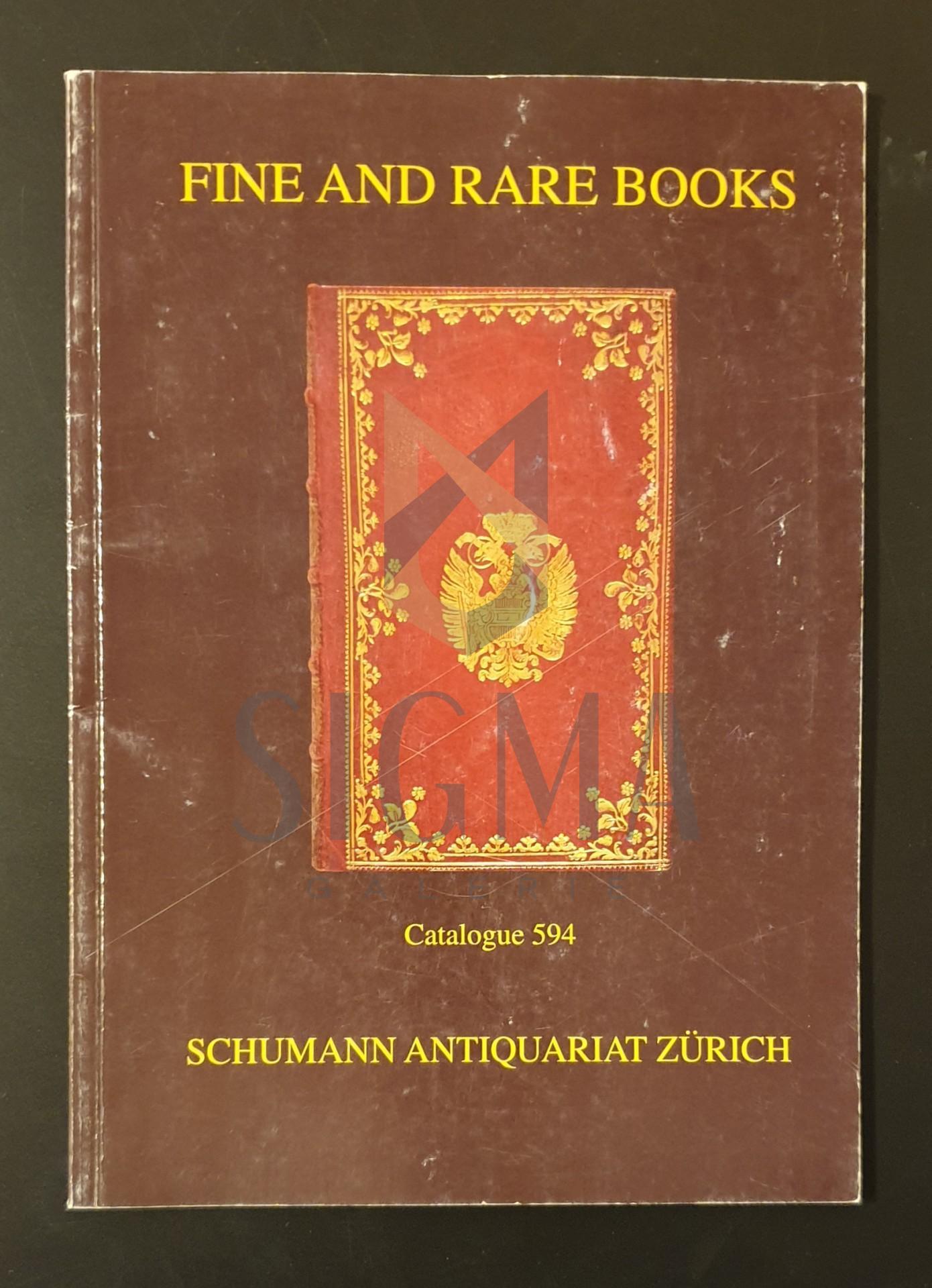 Fine and rare books  * Catalogue 594