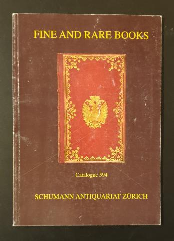 Fine and rare books  * Catalogue 594