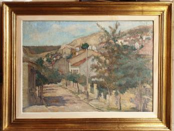"""TABLOU, LUCRETIA LUCASIEVICI STERIADI , """" PEISAJ DIN BALCIC """" , U/C, 1938"""