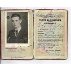 PERMIS DE CONDUCERE PENTRU AUTOMOBIULE, PREFECTURA ORASULUI CRAIOVA, 1942