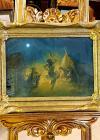 """Tablou, Constion, Ionescu Constantin, """"Dans la lumina lunii"""", ulei pe carton, 22x33 cm"""