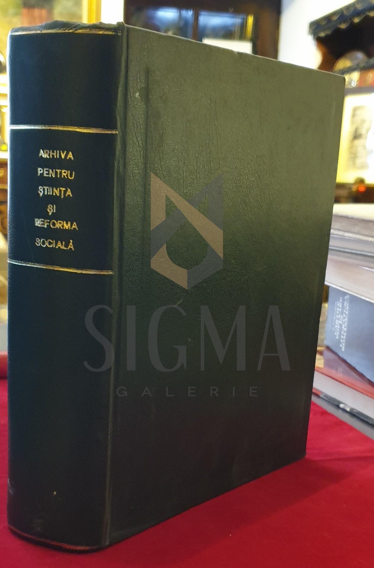 Arhiva pentru stiinta si reforma sociala, an ix, 1930
