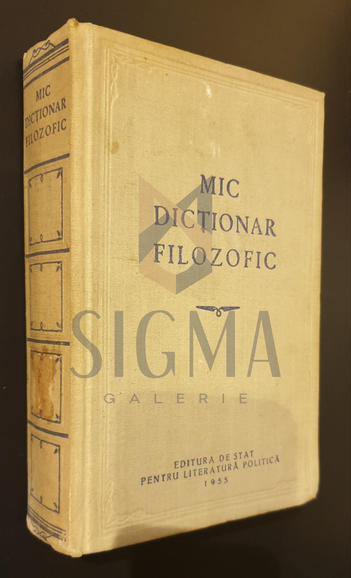 Mic dictionar filozofic