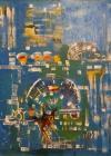 TABLOU, DRAGOS VITELARU ( 1951-2009 ) , COMPOZITIE, ulei/panza, 90 x 90 cm , 2009