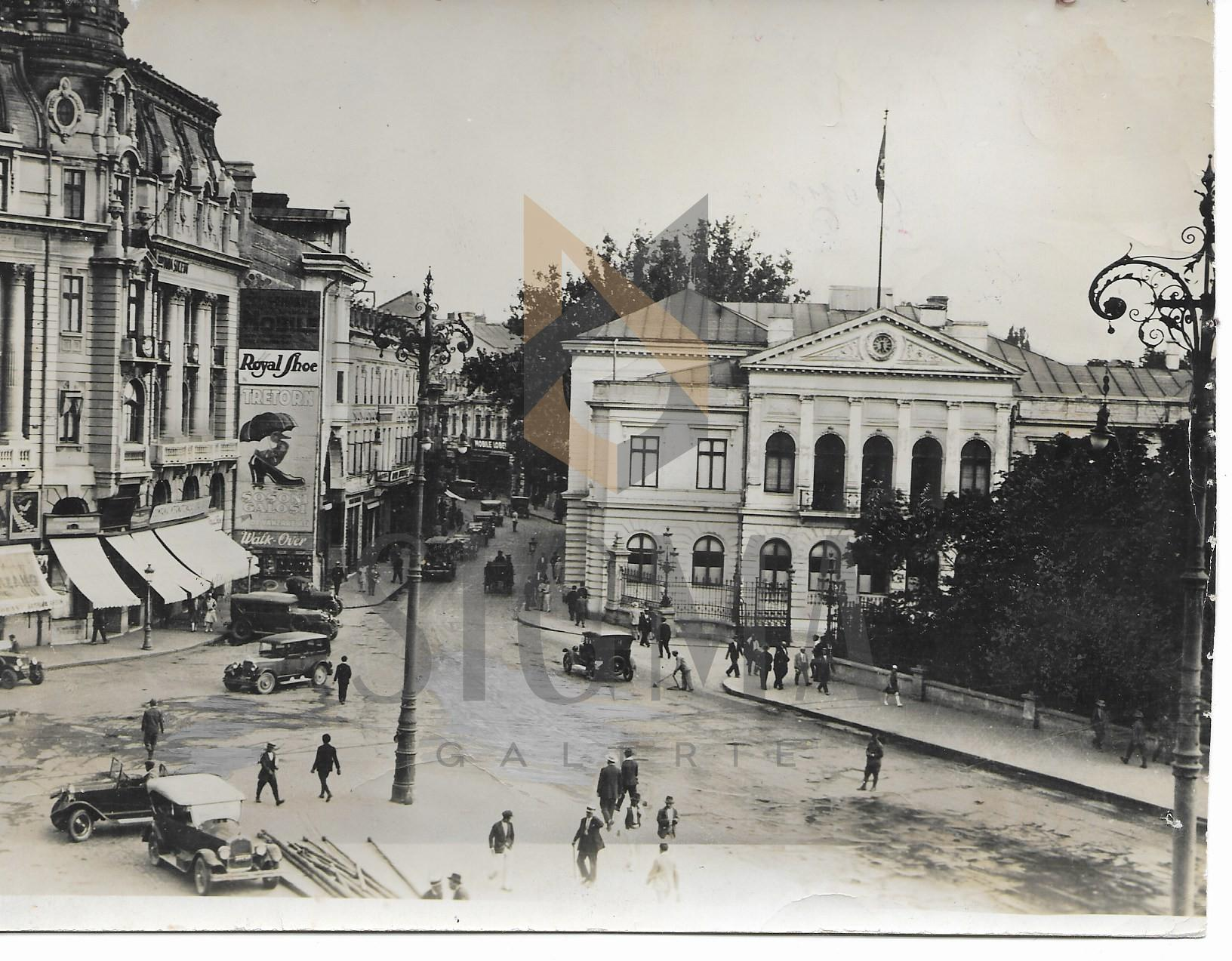 "FOTO, BUCURESTI, CALEA VICTORIEI, CASA "" GOLESCU "" , 1920"