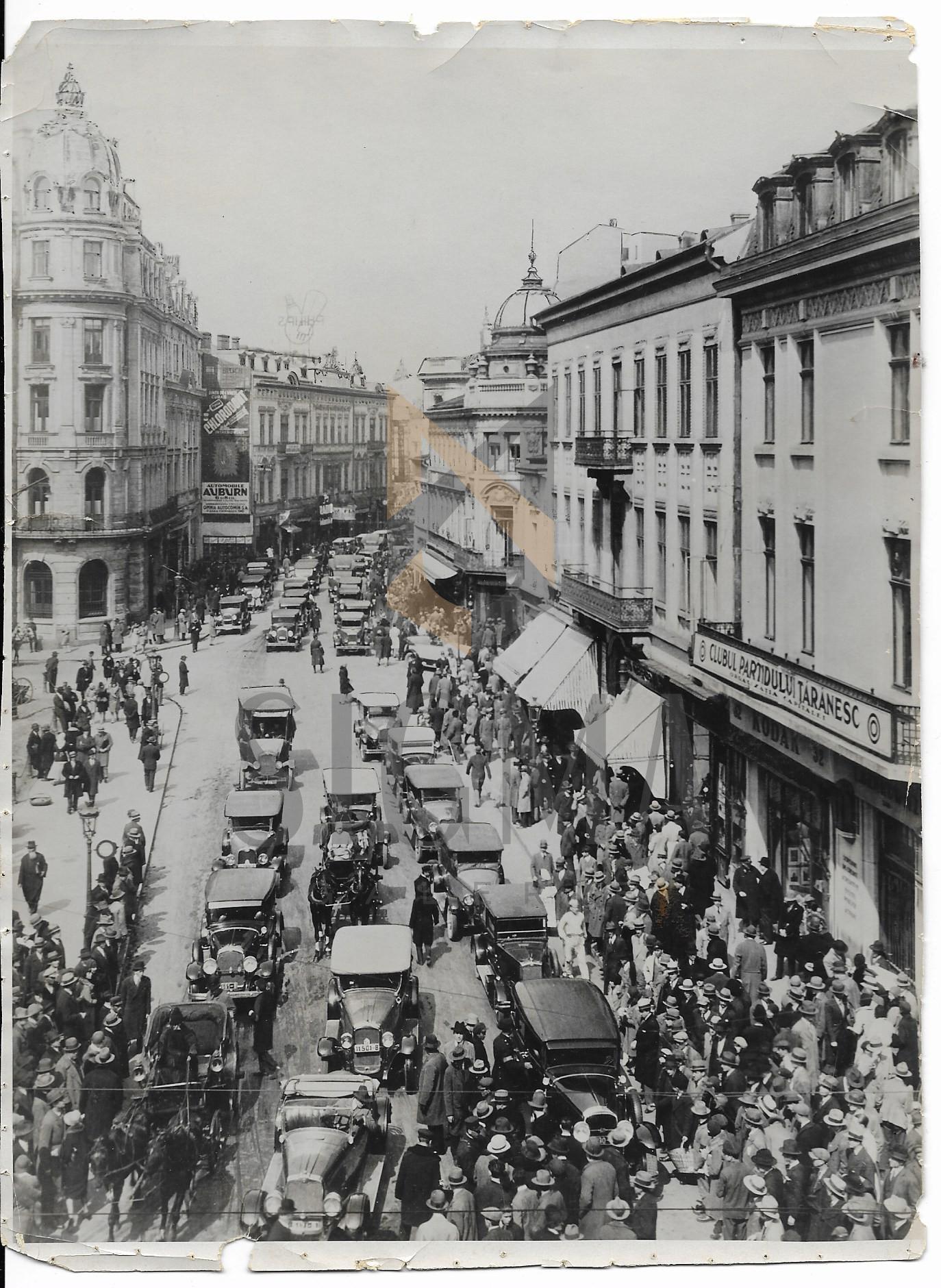 FOTO, BUCURESTI, CALEA VICTORIEI, CAPSA, CLUBUL PARTIDULUI TARANESC, 1920