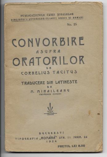 CORNELIUS TACITUS ( traduceree M. Mihaileanu )