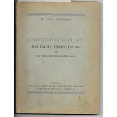 MICHAEL EMINESCU (   traducere de Viktor Orendi - Hommenau -dedicatie ! )