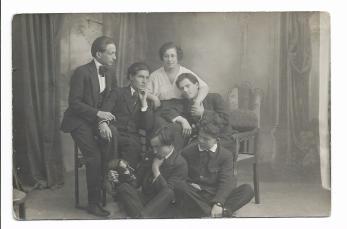 FOTOGRAFIE/CARTE POSTALA, ADAM BALTATU, AUREL BAESU, LAURENTIU SADOVEANU, autografe!! 1919