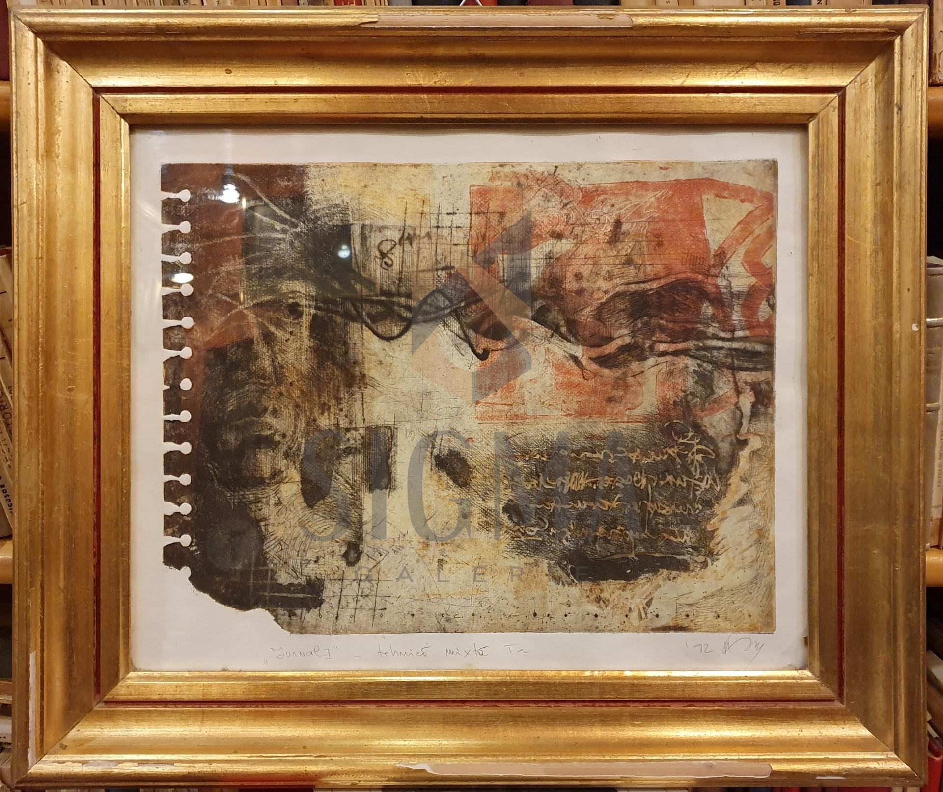 "TABLOU, ATENA ELENA  SIMIONESCU, "" JURNAL I "" , acvaforet/tehnica mixta, 1992"