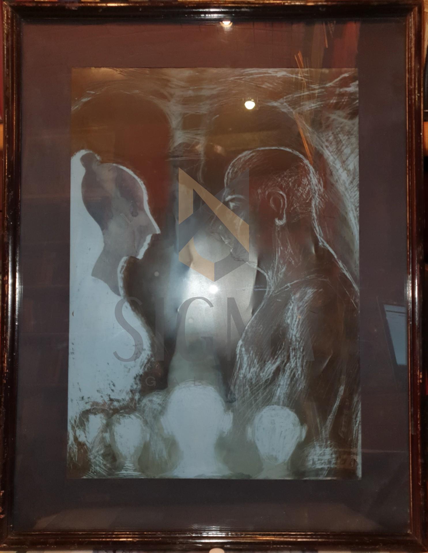 "TABLOU, PETRE MARIAN , "" OSESII "" , tehnica mixta, 1999"