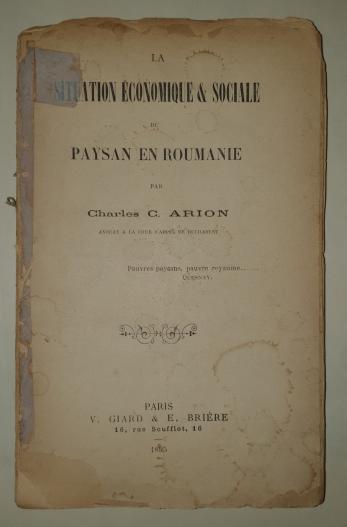 CHARLES C. ARION ( SCARLAT ARION - 1868-1937  )