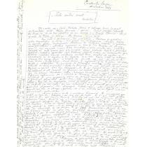 """MANUSCRIS / ARTICOL  CONSTANTA BUZEA """" SOCLU PENTRU PUNCT - NICHITA """" , LA MAORTEA POETULUI, decembrie 1983"""