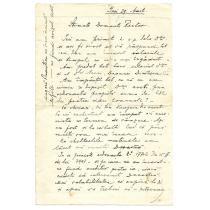 SCRSOARE / DOCUMENT, TRIMISA DE PICTORUL ALEXANDRU CLAVEL - RECTORULUI PINACOTECII DIN IASI , IASI