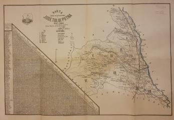 HARTA Cailor de Comunicatii a JUDETULUI PUTNA , 1927