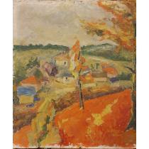 TABLOU, Dumitru MACOVEI, SOLONT , Peisaj insorit, u/c, 1972