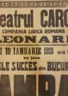 """AFIS ,  TEATRU CAROL actorul  LEONARD in """" LAMPAGIUL """" , BUCURESTI 10 IANUARIE 1928"""