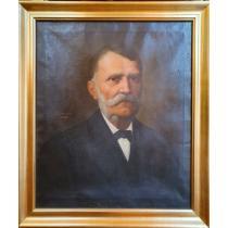 "TABLOU, SAVA HENTIA, "" PORTRETUL UNUI PROFESOR"" , U/P, 1899"