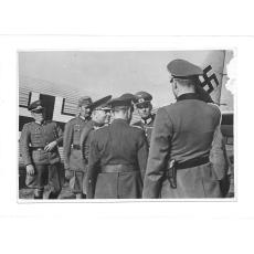 FOTOGRAFIE DE PRESA, GENERALUL ANTONESCU PE FRONTUL DE EST, 09.08 1941
