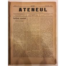 Revista ATENEUL FOIAE LITERARA, STIINTIFICA SI SOCIALA, AN. 1 NR1 , 10 numere, BOTOSANI 1901