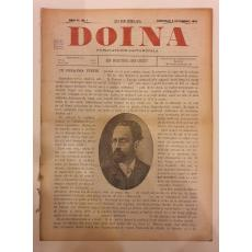 "REVISTA "" DOINA "" , PUBILCATIE SAPTAMANALA, AN. 2 NR.1-3, 1894"