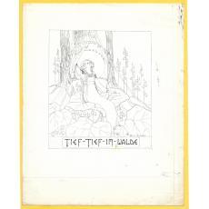 """OTILIA MICHAIL OTETELESANU, """" ADANC IN PADURE """" ilustratie carte povesti"""
