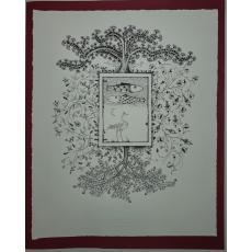 """STEFAN CALTIA, """" GRADINA PENTRU WILHELM"""" , litografie, 2014"""