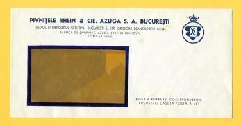 PLIC original,  PIVNITELE  SAMPANIE RHEIN & CIE. AZUGA S.A. BUCURESTI, perioada interbelica