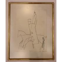 "TABLOU, SORIN ILFOVEANU, "" ANABASIS "" , SERIGRAFIE, 1977"