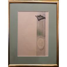 """PAULA RIBARIU,, """" MASA DE PASTI """" ,  2010, acuarela/calc"""