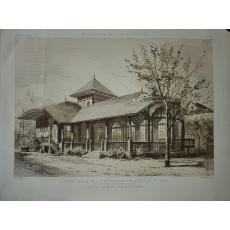 CABARET ROUMAIN LA EXPOZITIA UNIVERSALA 1889 - gravura
