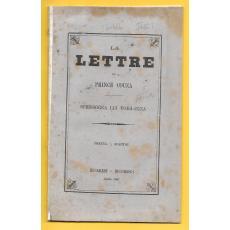 LA LETTRE DU PRINCE COUZA / SCRISSOREA LUI VODA-CUZA, BUCURESCI 1867