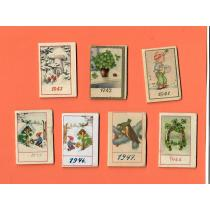 LOT 7 CALENDARE LILIPUT, 1941-1947