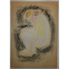 MEDI DINU - WECHSLER, NUD, carbune/pastel, 1940