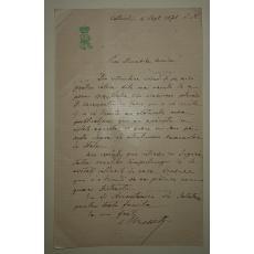 SCRISOARE CU MONOGRAMA, TRIMISA DE NICOLAE ROSSETI - ROSNOVANU, 1871