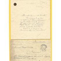 SCRISOARE , ZIZI LAMBRINO  CATRE RADU ROSETTI, 1925