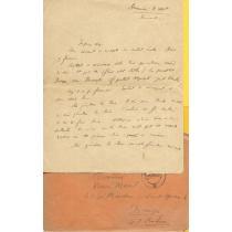 SCRISOARE, EXPEDIATA DE GRIGORE MOISIL , SOTIEI SALE, 1940